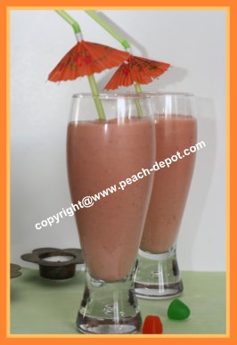Peach Strawberry Healthy Smoothie