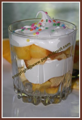 Easiest Fruit Dessert Peach Trifle Peaches and Cream with Pound Cake