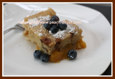 Easy Peach Cobbler with Blueberries