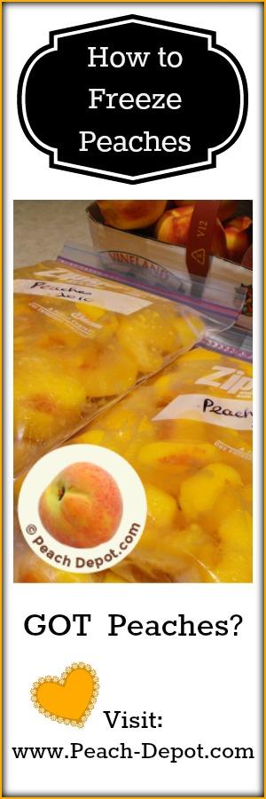 Freezing Peaches