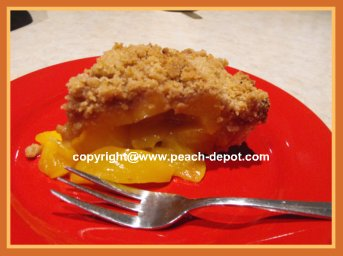 Fresh Peach Pie Recipe Streusel Top Peach Pie