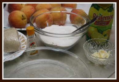 Ingredients to Make a Peach Pie From Scratch