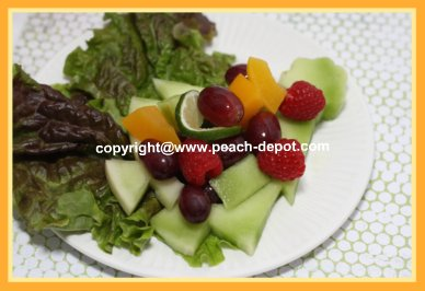 Melon Ring Salad with Fresh Fruit