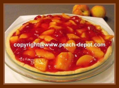 No Bake Peach Raspberry Pie