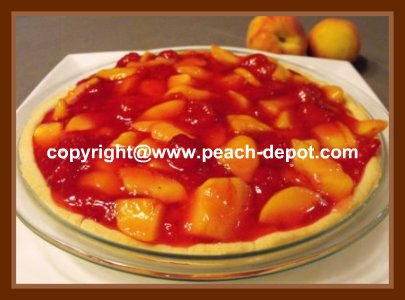 Easiest Homemade No Bake Peach Raspberry Pie