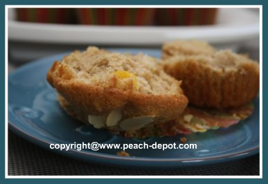 Peach Almond Muffins Recipe - Make Healthy Peach Muffins