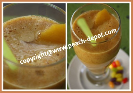 Smoothie Recipe with Peaches and Bananas