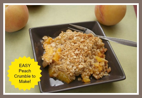 Peach Crumble Dessert with Oatmeal Topping RECIPE