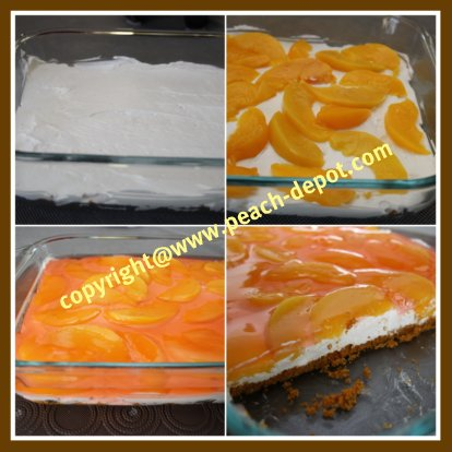 How to Make a Peach No Bake Peach Dessert with Canned Peaches