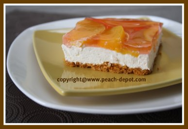 Peach Dessert Recipe with Fresh OR Canned Peaches - No-Bake Cream Cheese Dessert Idea
