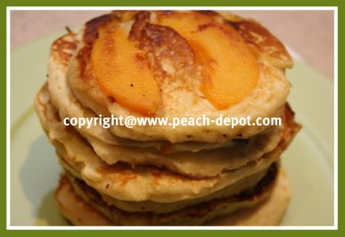 Peach Pancake Recipes - Homemade Pancakes using Peaches