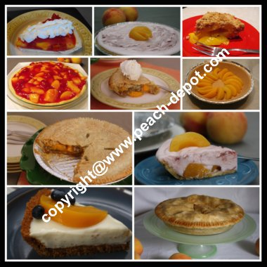 Picture Collage of Peach Pies Peach Pie Recipes