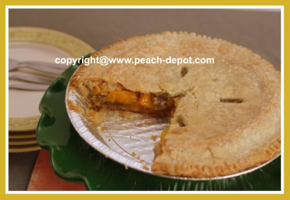 Make Pie with Canned Peaches