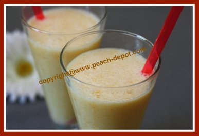 Recipe for Peach Smoothie with Yogurt
