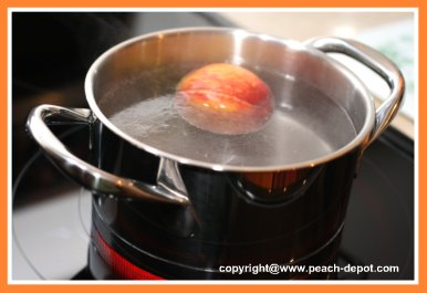 Picture of Peeling Peaches for Canning/Preserves