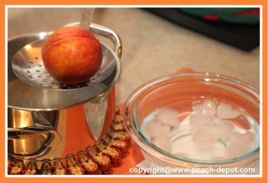 Instructions How to Peel Peaches