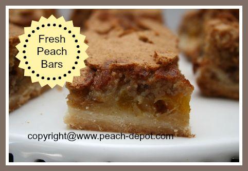 Baking Recipe with /using Fresh Peaches - Peach Bars