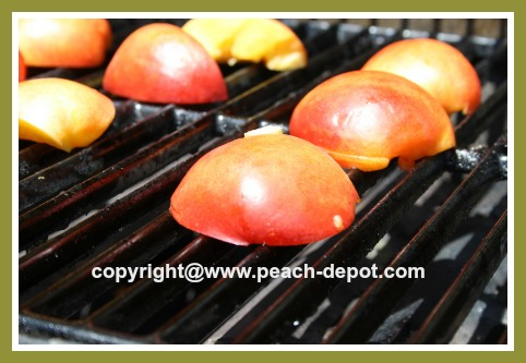 Barbequing Nectarines