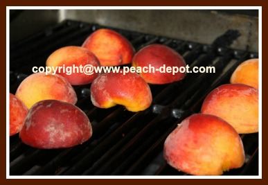 BBQ Peaches - How to Barbeque Peaches