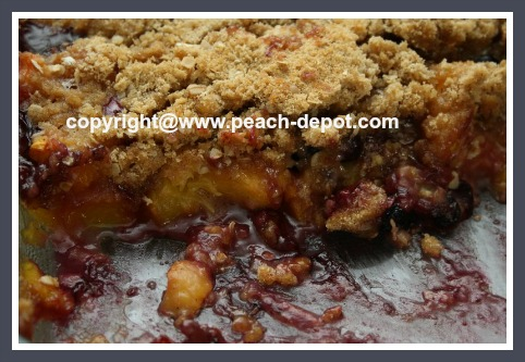 Best Peach Blueberry Crumble Recipe with Oatmeal Topping
