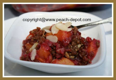 Easy Raspberry Peach Crisp