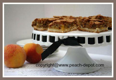 Fresh Peach Bars Recipe at Peach-Depot.com