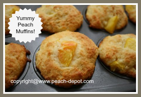 Homemade Muffins Made Using Fresh Peaches