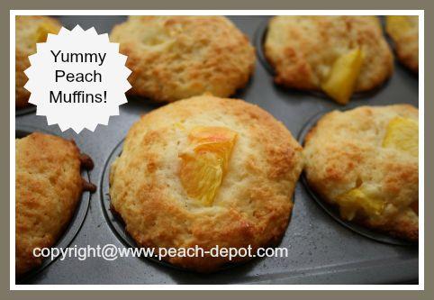 Homemade Muffins Made Using Fresh Peaches