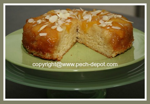 Cake with Fresh Peaches