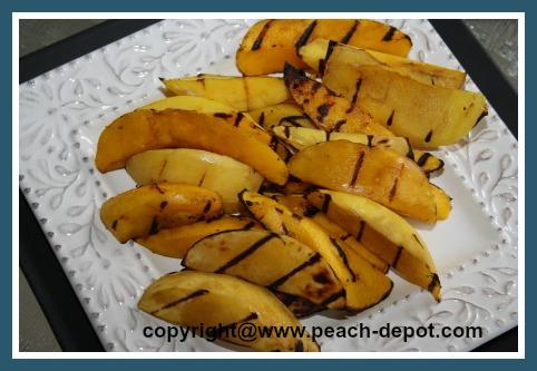 Grilled Mangos