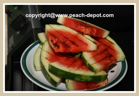 Grilled Watermelon Dessert Idea