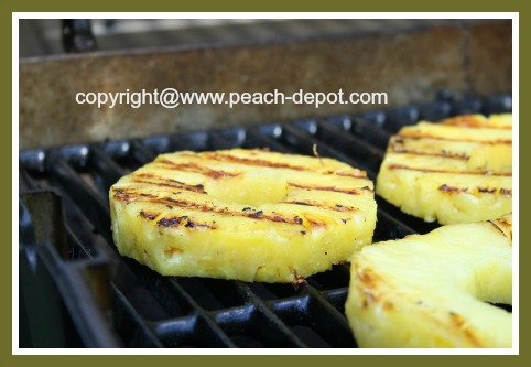 Grilling PIneapple Slices on the BBQ