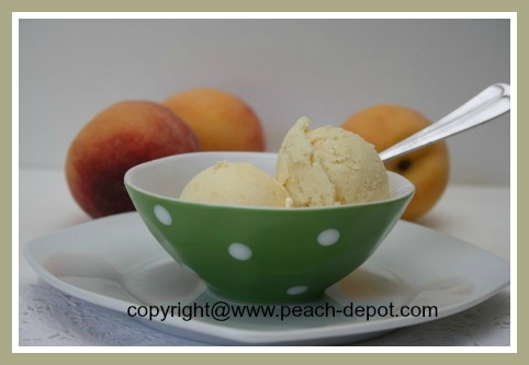 how to make peach ice cream in a vitamix