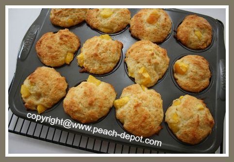 Peach Muffins made at Home