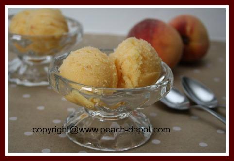 Homemade Peach Sorbet Recipe