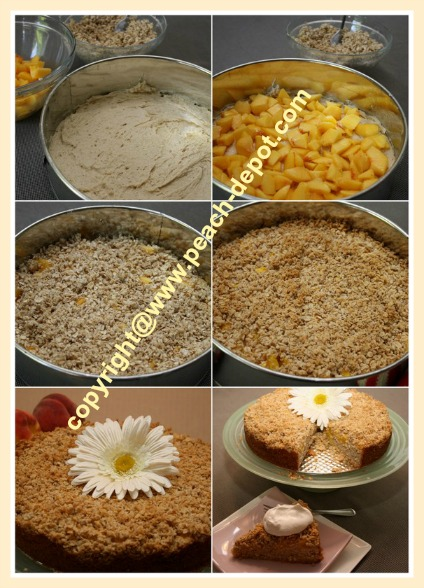 How to Make Peach Coffee Cake