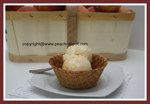 Real Homemade Ice Cream Recipe made with Fresh Peaches