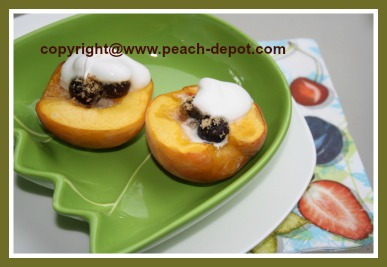 Oven Baked Peaches Stuffed