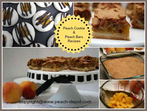 Peach Baking Ideas Peach Cookies and Peach Bars