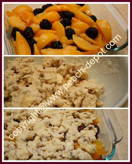 Peach Blackberry Cobbler with Canned Peaches or Fresh/Frozen