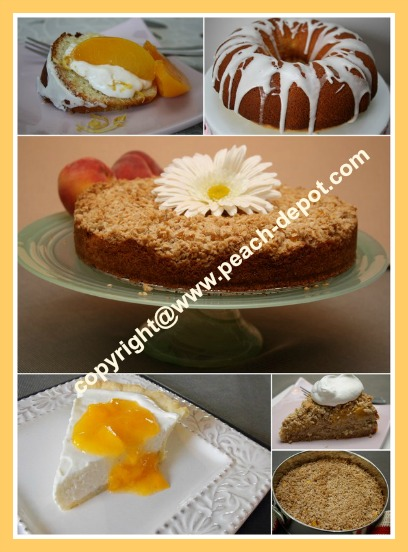 Picture Collage of Peach Cakes Recipes for Peach Cakes