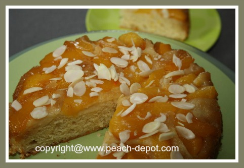 Peach Upside Down Cake Dump Cake Peaches