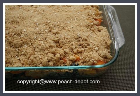 Peaches and Blueberris Crumble Dessert Recipe