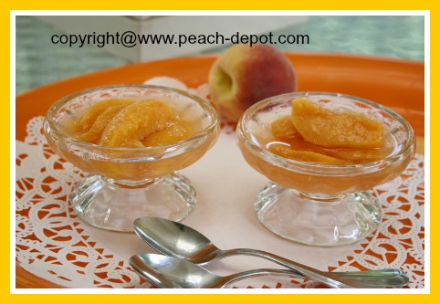 Picture of Frozen Peaches in Syrup thawed for Dessert