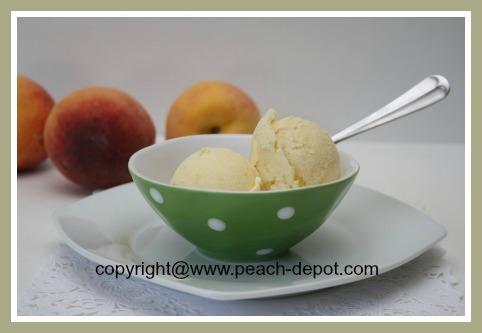 Peach Ice Cream Recipe made in an Ice Cream Machine Cuisinart