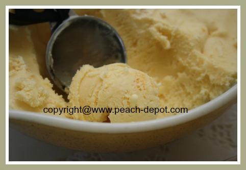 Peach Ice Cream Recipe for Ice Cream Maker