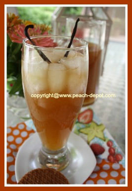 Homemade Peach Ice Tea