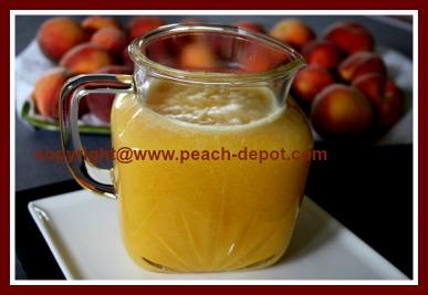 Fresh Homemade Peach Juice