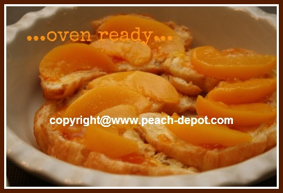 Peach Pastry Dessert Made in Oven