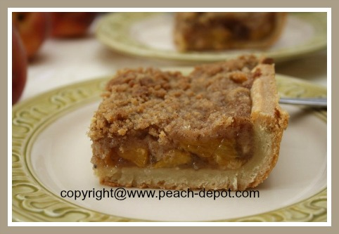 Peach Pie Recipe Streusel Top Peach Pie